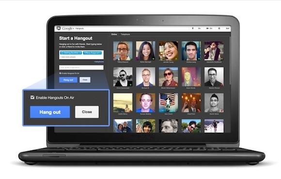 Google Hangouts OnAir
